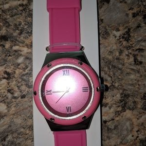Accessories - Silicone pink watch